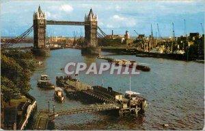Postcard Modern Tower Bridge and Pool of London