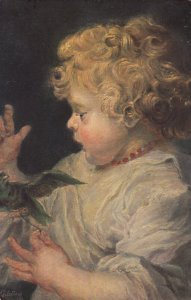 Portrait Of A Blonde Toddler, 1900-10s; TUCK Series 1243 No. 5
