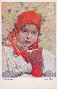 AS, Girl Wearing National Costume, Czecho-Slovak, Czech Republic, 1900-1910s
