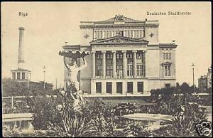 latvia russia, RIGA, German City Theatre (1917)