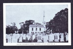 RI Cemetery & Church LITTLE COMPTON RHODE ISLAND PC