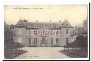 Annet sur Marne Maps Postal Old chateau d & # 39Etry