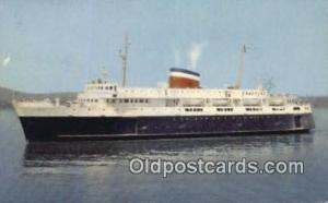 Car Ferry Bluenose, Bar Harbor, Maine, ME USA Ferry Ship Postcard Post Card  ...