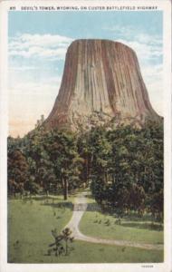 Wyoming Devil's Tower On Custer Battlefield Highway