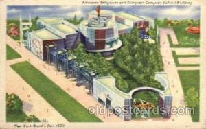 New York Worlds Fair 1939 exhibition postcard Post Card  AT&T Building