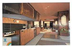 Hilton Hotel Valley Forge PA Registration Desk Vtg Postcard
