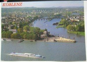 Germany Koblenz Deutsches Eck mit Moselmundung - posted
