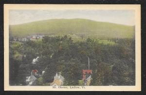 Birds-Eye View Mt Okemo Ludlow Vermont Unused c1920s