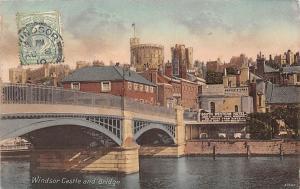 Windsor Castle and Bridge pont bruecke 1910