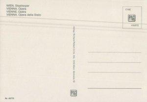 Austria Vienna Wien Opera della Stato Postcard