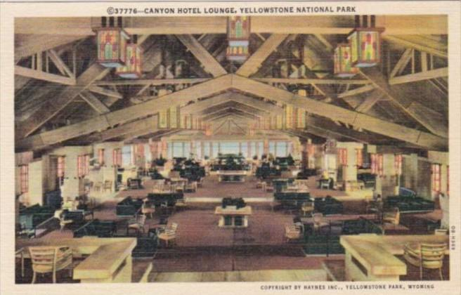 Canyon Hotel Lounge Yellowstone National Park Curteich