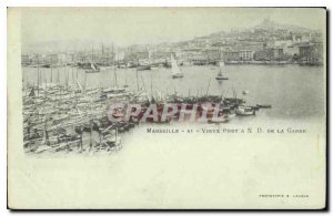 Postcard Old Marseille Vieux Port and N D of the Guard