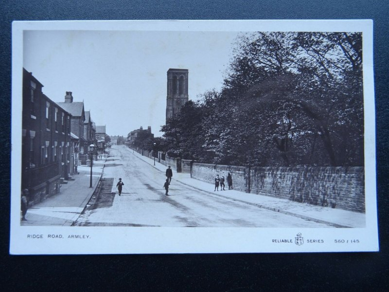 Yorkshire Leeds ARMLEY Ridge Road - Old RP Postcard by W.R.& S.