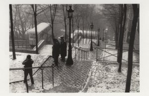 French 1963 Photographer Camera Montmartre Paris Xmas Postcard
