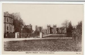 Berkshire; South Front, Windsor Castle RP PPC, Unposted, c 1910's, Note Sentries