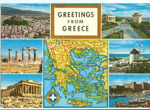 Greetings from Greece, unused Postcard