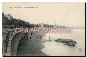 Postcard Old St Nazaire Full Sea beach