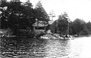 Liberty Maine Pinola Point Real Photo Antique Postcard J52559