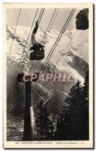Old Postcard Chamonix Brevent Teleterique