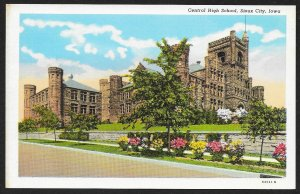 Central High School Sioux City Iowa Unused c1920s
