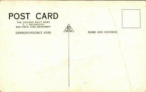 Vtg Cartolina Prima Guerra Mondiale Chicago Giorno News G J Kavanaugh Tanks IN