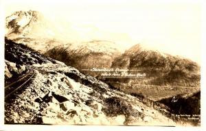 AK - Sawtooth Range, The Crags. White Pass & Yukon Route - RPPC