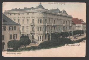 108880 CZECHIA Frantiskovy Lazne FRANZENSBAD Hotel Stadt Leipz