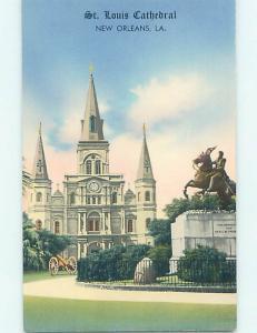 Unused 1950's CHURCH SCENE New Orleans Louisiana LA p3833