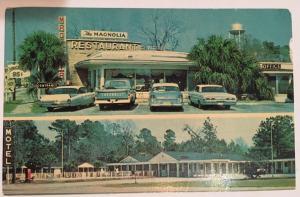 Magnolia Restaurant and Motel Hardeeville South Carolina Postcard RPPC