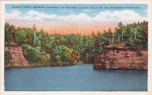 Wisconsin Milwaukee Sunset Point Showing Entrance To Witches Gulch Dells Of T...