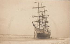 RP: PATCHOGUE , New York, 1900-10s ; Shipwreck of PURITAN, 4 masted Bark