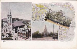 3-view postcard , HALIFAX , Nova Scotia , Canada , 00-10s