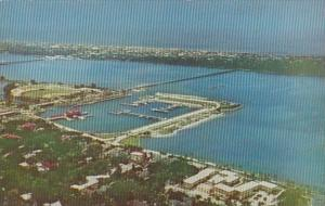 Florida Daytona Beach Aerial View Over Yacht Basin and Halifax River