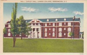 South Carolina Greenwood Chipley Hall Lander College