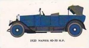 Mobil Oil Vintage Trade Card Vintage Cards No 1 Napier 40-50 H P  1920