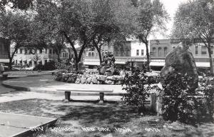 Red Oak Iowa~Rock Fountain~Mary Lou Dress Shop~July Clearance~1920-30 Cars~RPPC