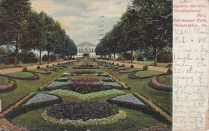 Pennsylvania Phildelphia Sunken Gardens Horticuitural Hall 1908