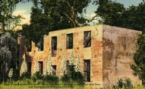 GA - Jekyll Island State Park. Ruins of Old Barracks