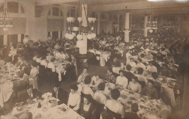 RPPC Women Dining (Men optional?) - Found with Cleveland Ohio cards