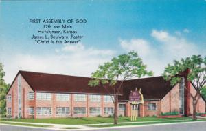 HUTCHENSON, Kansas; First Assembly of God, 17th and Main, Christ is the Answ...