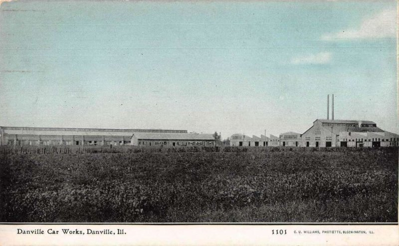 Danville Illinois Danville Car Works Vintage Postcard AA27611