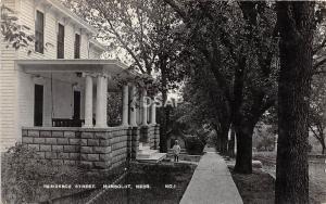 C90/ Humboldt Nebraska Ne Real Photo RPPC Postcard 1911 Child Home Residence St
