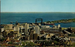 Duluth Minnesota View From Skyline Drive Vintage Postcard Standard View Card