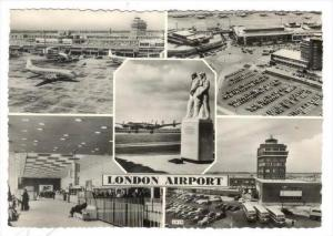 RP  Airplanes & Buildings at London Airport, UK, 1950s  BOAC Constellation la...