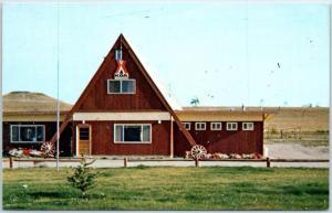 Choteau, Montana Postcard CHOTEAU KOA A-Frame Building Camping c1960s Unused