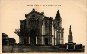 CPA  Regnie - Régnié - Eglise et Monument aux Morts  (692888)