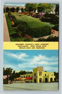 Salinas CA, Santa Lucia Inn, Linen California Postcard