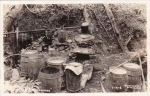 Typical Moonshine Still In Tennessee 1945 Real Photo