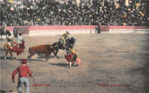 US3089 Spain Gibraltar Citando para an Quite Bull Fight corrida