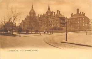 Baltimore Maryland~Johns Hopkins Hospital~Postcard c1907 TUCK Sepia